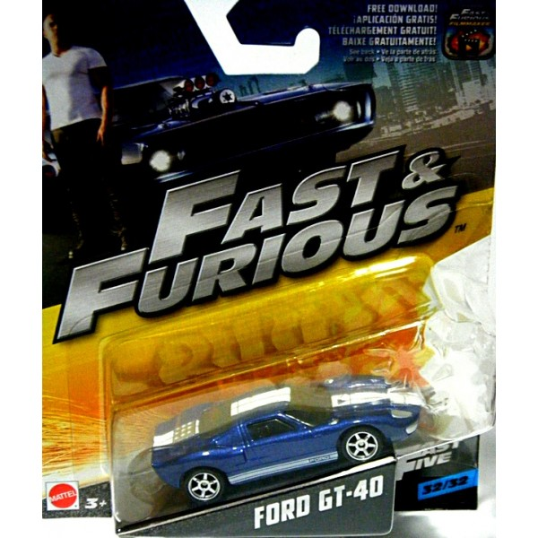 Mattel Fast And Furious Ford Gt