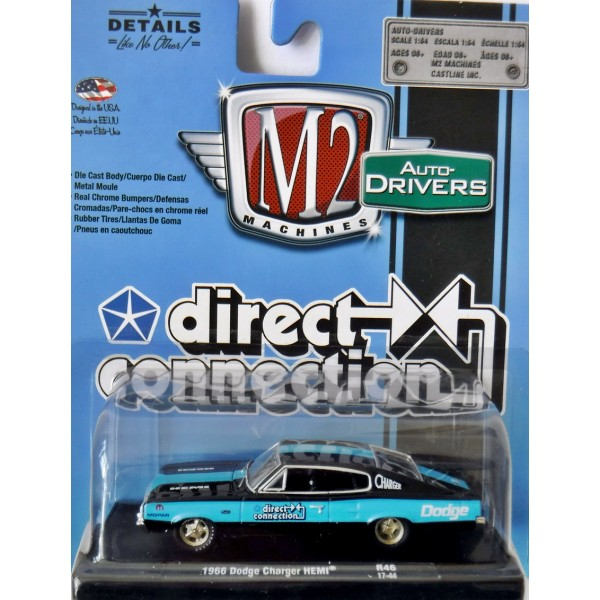 1966 Dodge Charger Hemi direct connection ** m2 machines Mopar Edition 1:64 nuevo