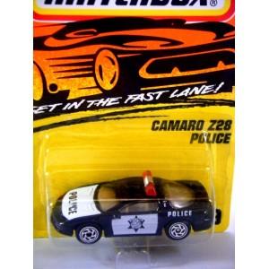 Matchbox Chevrolet Camaro Z28 Police Patrol Car