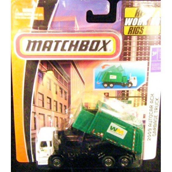 Matchbox Working Rigs Autocar Acx Waste Management Garbage Truck Global Diecast Direct
