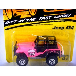 Matchbox Jeep 4x4 Cool Mud - Hot Pink