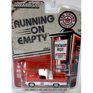 Greenlight - Running on Empty - 1962 Dodge D-100 Long Bed - Red Crown Gas - Standard Oil Co