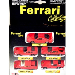 Maisto Ferrari Collection Series - Rare 1:64 Scale 5 Car Set
