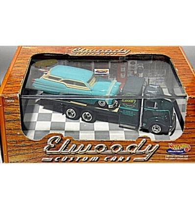 Hot Wheels Collectibles - Elwood's Garage - ElWoody Custom Buick Station Wagon and Flatbed