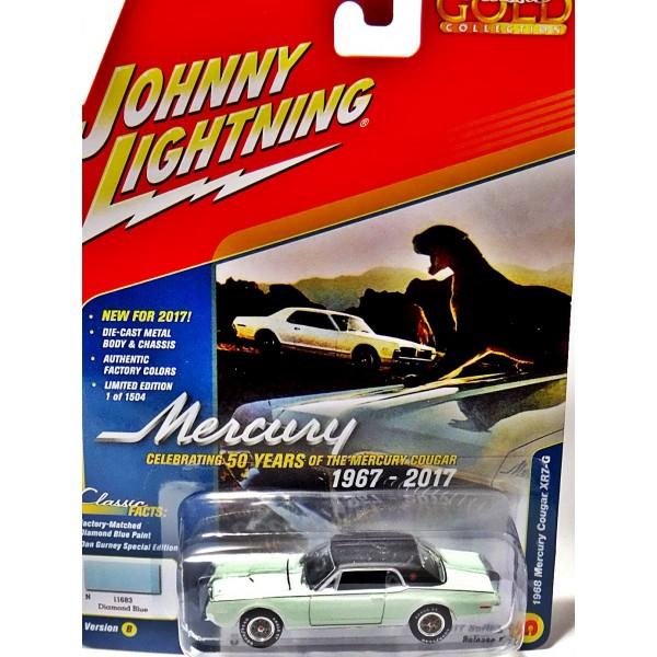 johnny lightning classic gold series dan gurney 1968 mercury cougar xr7 g global diecast direct johnny lightning classic gold series dan gurney 1968 mercury cougar xr7 g