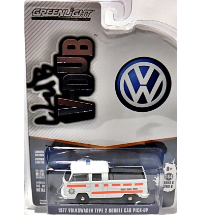 Greenlight - Club V-Dub - 1977 Volkswagen Type 2 Double Cab Police Pickup Truck