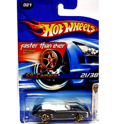 Hot Wheels 1969 Chevrolet Camaro Convertible with Faster Than Ever Wheels
