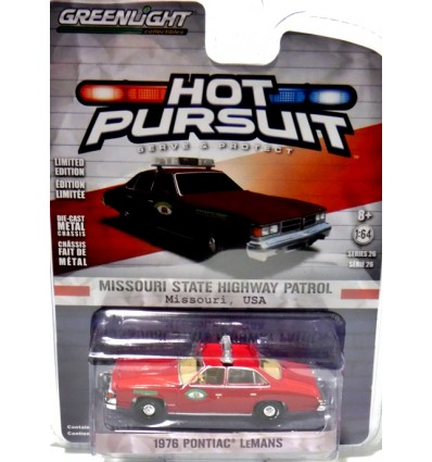 Greenlight Hot Pursuit - Missouri State Highway Patrol - 1976 Pontiac Lemans