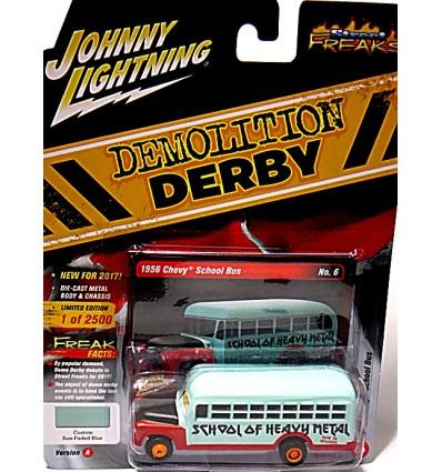 Johnny Lightning Street Freaks - Demolition Derby - 1957 Chevrolet School Bus