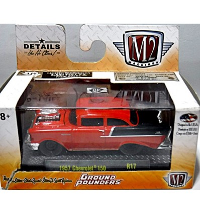 M2 Machines Ground Pounders - 1957 Chevrolet 150 2 Door Post