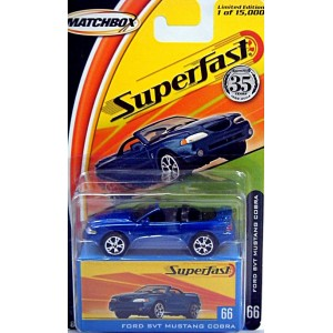 Matchbox 35th Anniversary Superfast Ford Mustang SVT Cobra