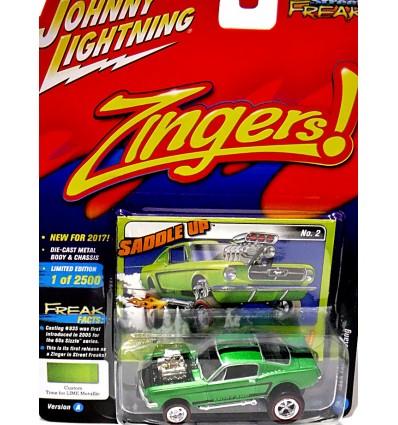 Johnny Lightning Street Freaks - Zingers - 1965 Ford Mustang 2+2 Fastback