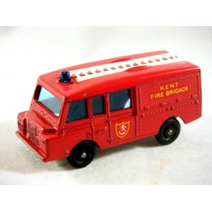 Matchbox Regular Wheels Land Rover Kent Fire Brigade Truck (1968)