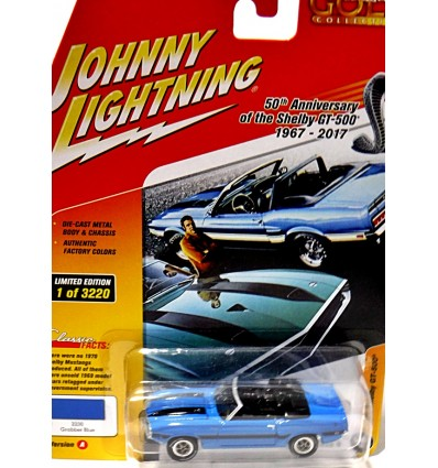 Johnny Lightning 1969 Ford Mustang Shelby GT 500 Convertible