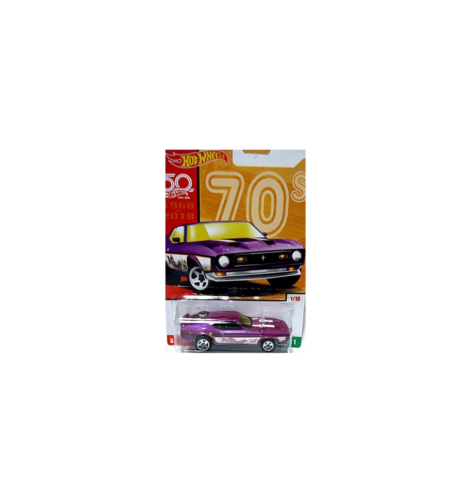 Hot Wheels 50th Anniversary Throwbacks 1971 Ford Mustang Mach 1 Fastback