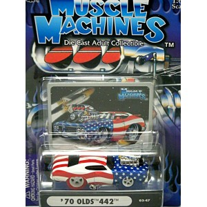 Muscle Machines Stars and Stripes Chase Car - 1970 Oldsmobile 442