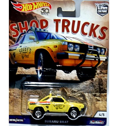Hot Wheels Car Culture - Shop Trucks - Sooby's Off Road Subaru Brat Shop Truck