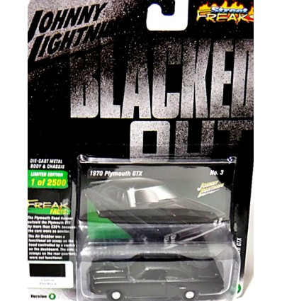 Johnny Lightning Street Freaks - Blacked Out - 1970 Plymouth GTX