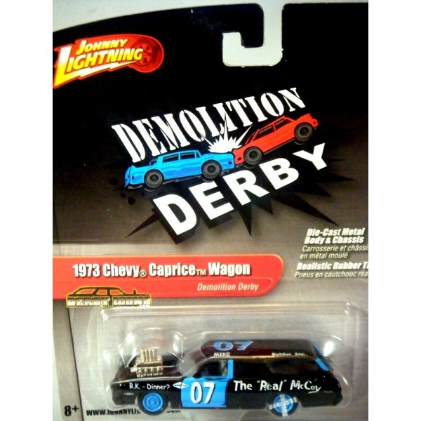 Johnny Lightning 2 0 - 1973 Chevy Caprice Demolition Derby Station Wagon -  The Real McCoy