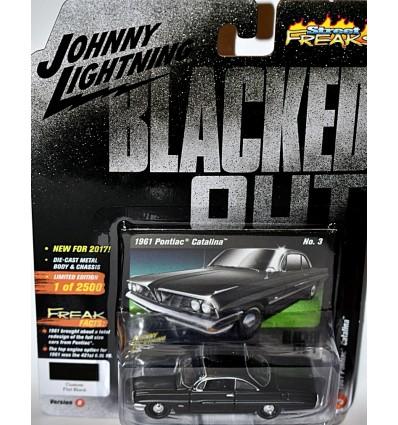 Johnny Lightning Black with Flames 1961 Pontiac Catalina
