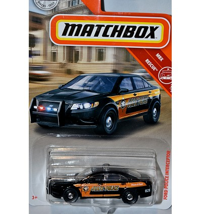 Matchbox - Ford Police Interceptor State Police Car