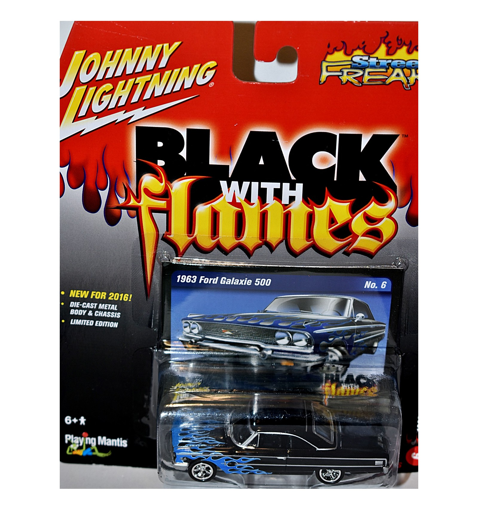 Johnny Lighnting Black with Flames - 1963 Ford Galaxie 500