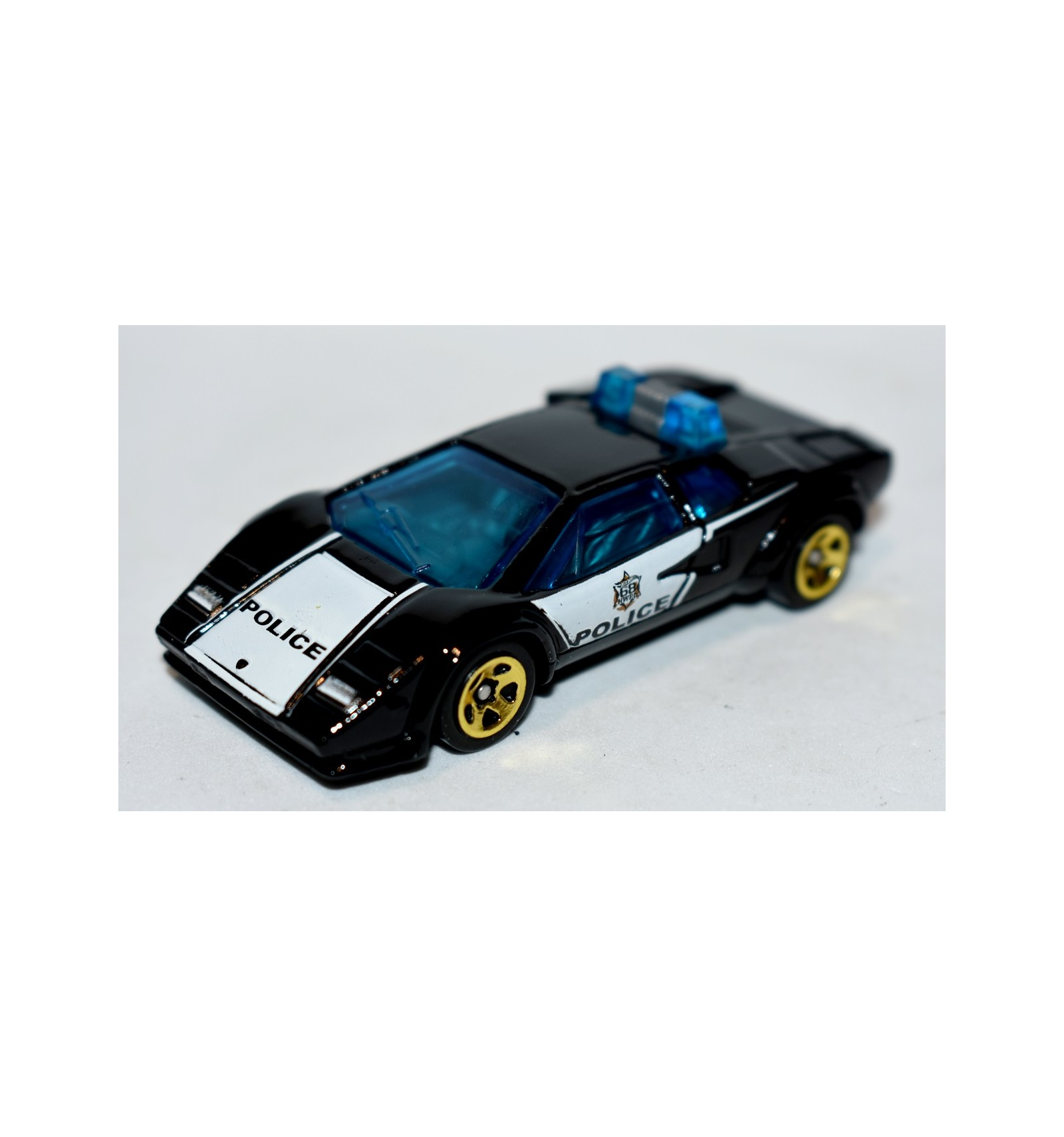 Hot Wheels Lamborghini Countach Police Patrol Car Global Diecast
