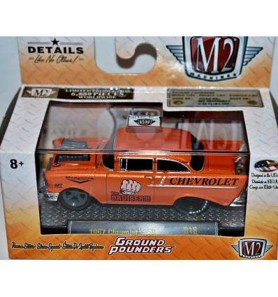 "M2 Machines Ground Pounders - ""The Bruiser"" 1957 Chevrolet 150 2 Door Post"
