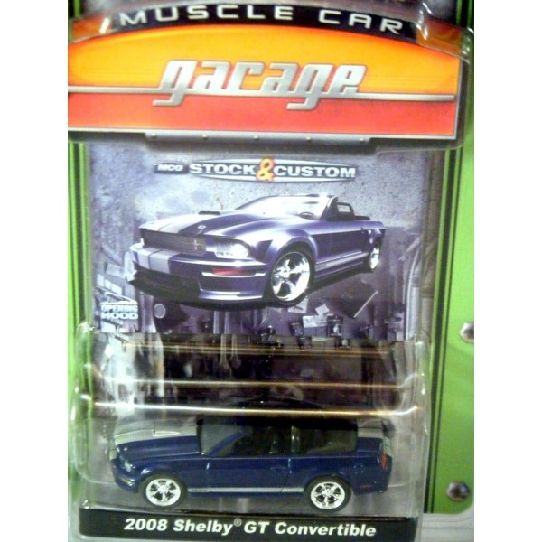 Greenlight Muscle Car Garage 2008 Ford Mustang Shelby Gt Convertible
