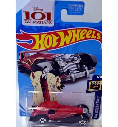 Hot Wheels - Disney 101 Dalmatians Cruella DeVil's 1930's Cadillac