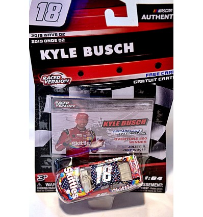 NASCAR Authentics - Joe Gibbs Racing - Raced Version - Kyle Busch Skittle's Toyota Camry