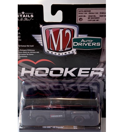 M2 Machines Drivers - Hooker Headers 1958 GMC 100 Stepside Pickup Truck