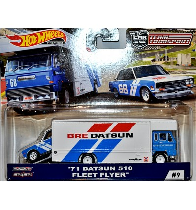 Hot Wheels Car Culture - Team Transport - 1971 BRE Datsun 510 Race Team