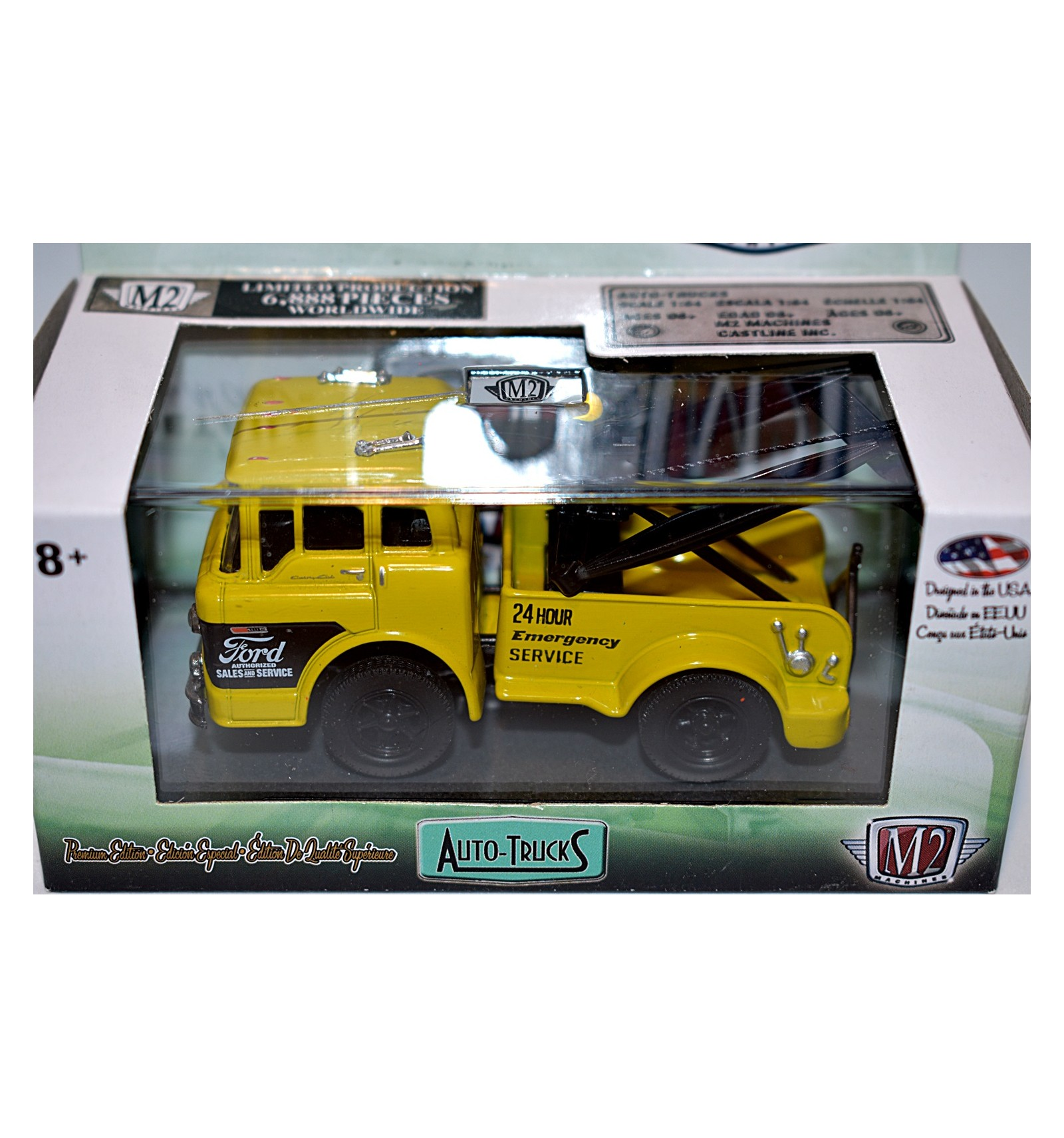 M2 Machines Auto Trucks Release 52 1970 Ford C-600 Tow Truck