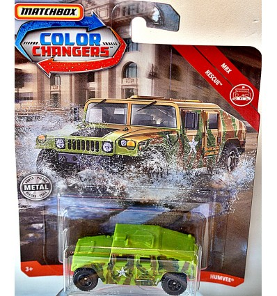 Matchbox - Color Changers - Military HumVee Desert and Jungle Camoflage