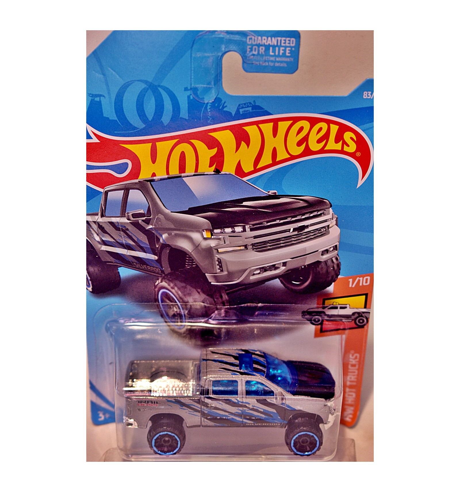 Hot Wheels- 2019 Chevrolet Silverado Trail Boss LT Pickup Truck - Global Diecast Direct