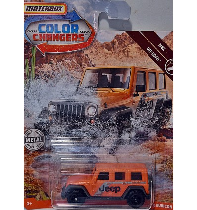 Matchbox - Color Changers - Jeep Wrangler Rubicon
