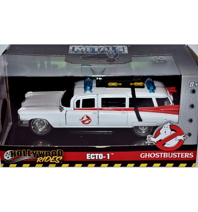 Jada Hollywood Rides - Ghostbusters Ecto-1 1959 Cadillac Ambulance