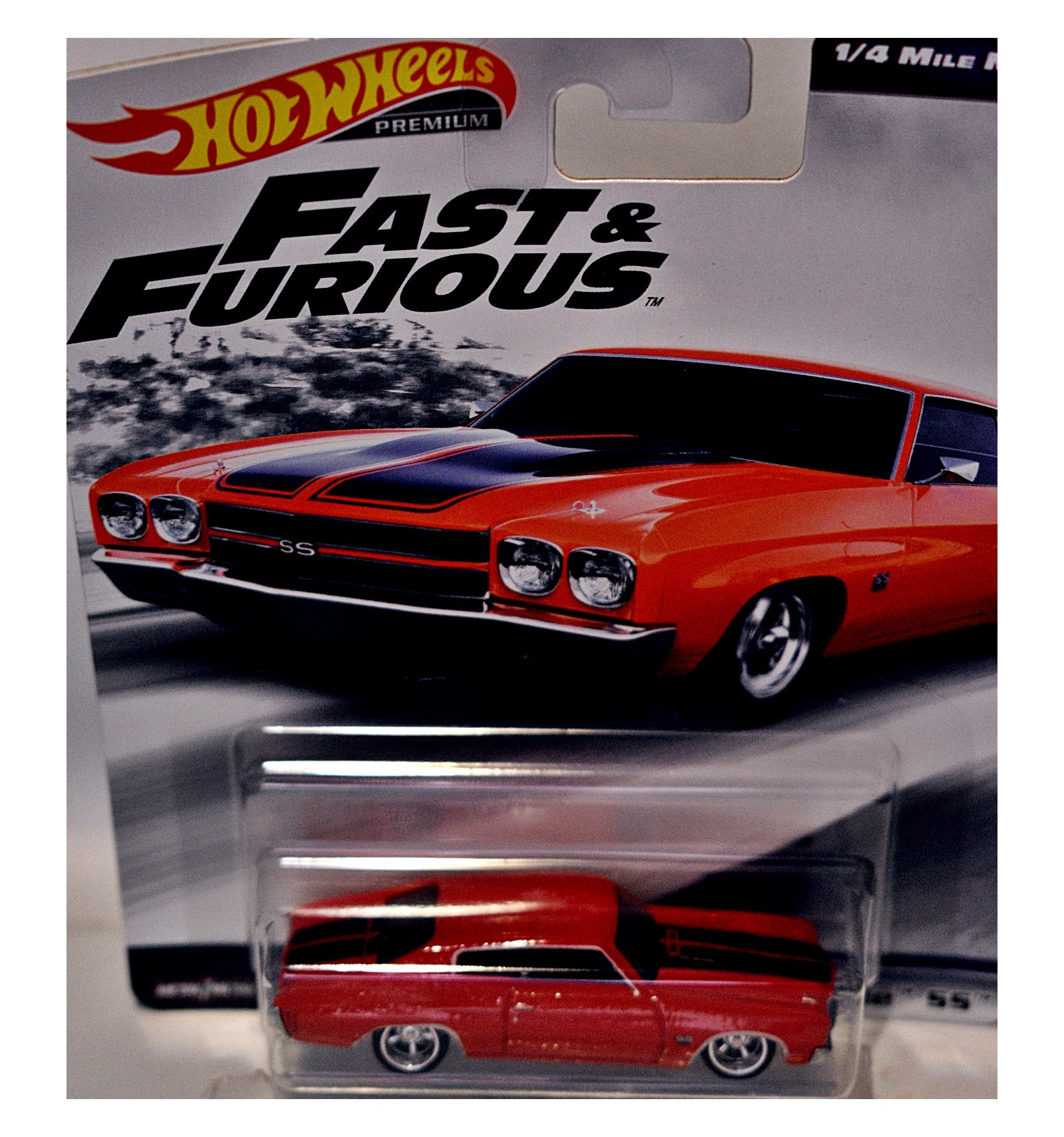 Hot Wheels Fast And Furious 1970 Chevrolet Chevelle SS 1//4 Mile Muscle
