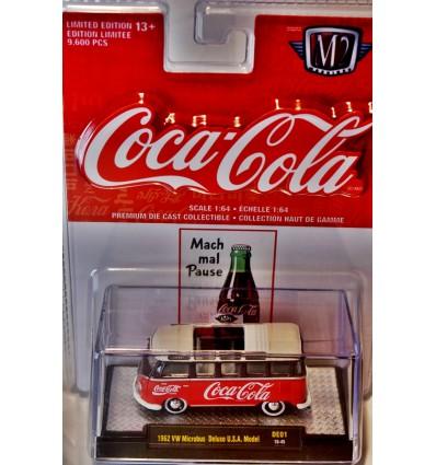 M2 Machines - Coca-Cola - 1962 Volkswagen Microbus Deluxe USA Model
