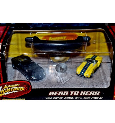 Johnny Lightning - Head To Head - 1966 Shelby Cobra 427 vs 2005 Ford GT