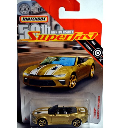Matchbox - 50th Anniversary Superfast Chase Car - Chevrolet Camaro Convertible