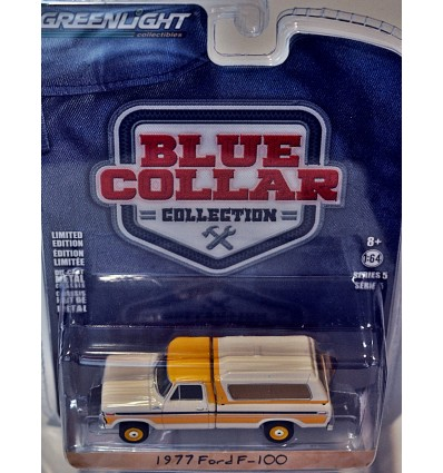 Greenlight - Blue Collar - 1977 Ford F-100 with Bed Cap