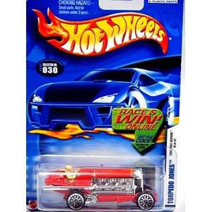 Hot Wheels 2002 First Editions - Torpedo Jones - Vintage Land Speed Beach Racer