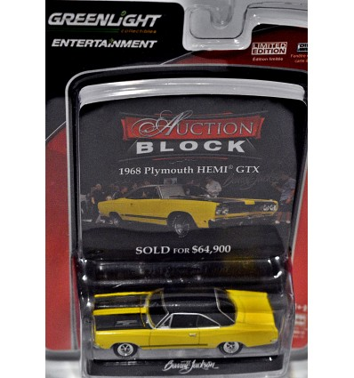 Greenlight Auction Block - 1968 Plymouth Hemi GTX