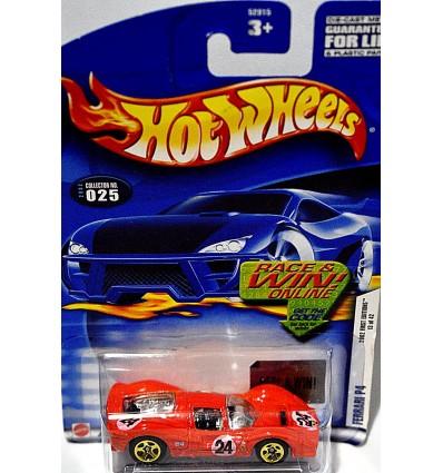 Hot Wheels 2002 First Editions Series - Ferrari P4 Race Car