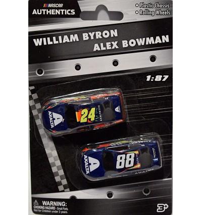 NASCAR Authentics - HO Scale - William Byron and Alex Bowman Axalta Chevrolet Camaro set