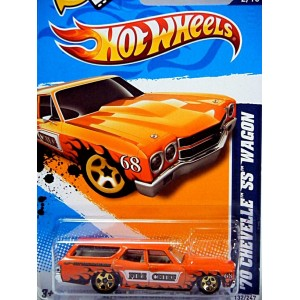 Hot Wheels 1970 Chevrolet Chevelle SS Station Wagon Fire Chief