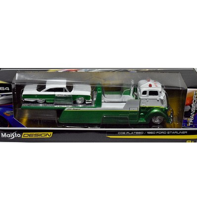Maisto - Tow & Go - 1960 Ford Starliner and Flatbed Tow Truck