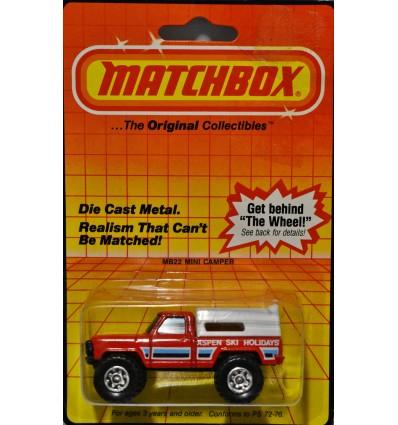 Matchbox Ford Aspen Ski Holidays Pickup Truck